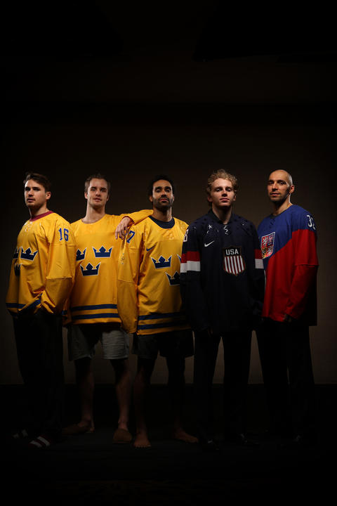 Olympian Blackhawks from Sweden, USA and Czech Republic.