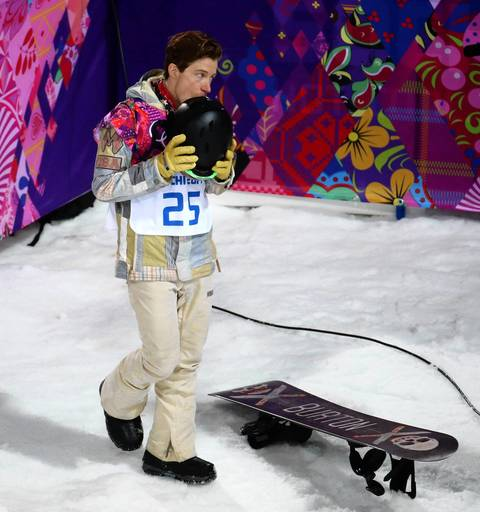 "U.S. snowboarder Shaun White steps away after failing to medal in the men's halfpipe at the Rosa Khutor Extreme Park. ""I hustled down the to bottom to catch Shaun receiving his scores and could see his disappointment in finishing just out of the medals. The winner continued to celebrate with fans."""