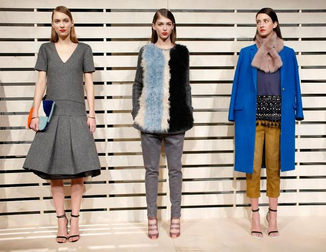 Looks from the fall and winter 2014 J. Crew women's collection presented Tuesday during New York Fashion Week.