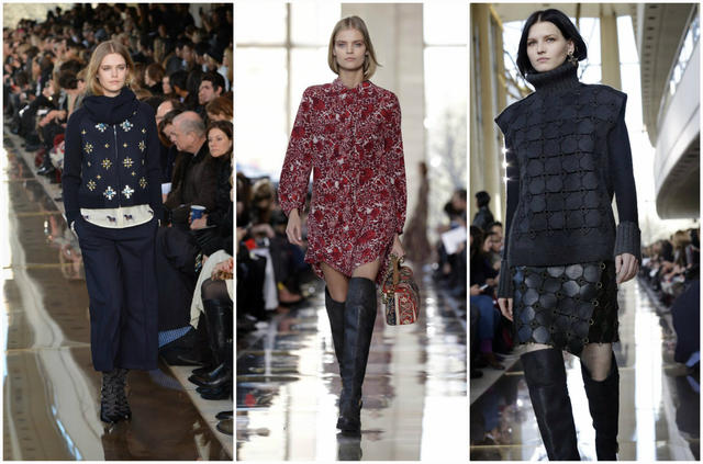 Looks from the fall and winter 2014 Tory Burch runway collection presented during New York Fashion Week.