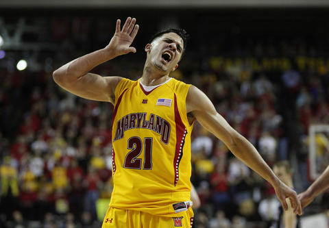 Greivis Vasquez gestures for increased crowd participation late in a victory over Duke.