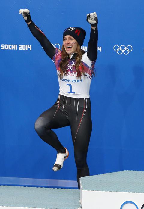 NOELLE PIKUS-PACE: Silver medal, women's skeleton.