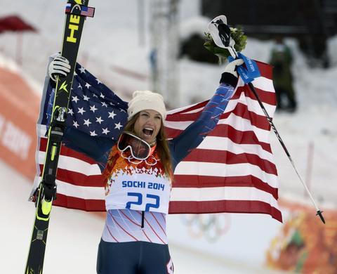 JULIA MANCUSO: Bronze medal, women's super combined skiing.