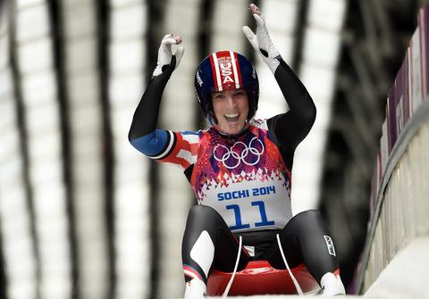 ERIN HAMLIN: Bronze medal, women's luge.