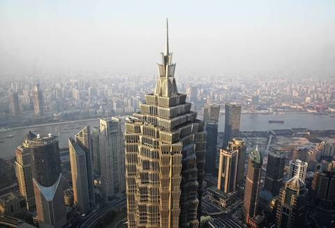 The 1,380-foot-tall Jin Mao Tower was designed by the Chicago office of Skidmore, Owings & Merrill and reigned for nearly a decade as China's tallest skyscraper and it's still one of its most iconic.