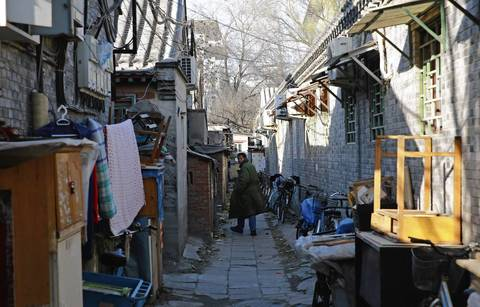 The Paoju Hutong in Beijing has many alleys. In the 1950s, Beijing had more than 7,000 of the alleys. Now, by some accounts, there are only about 1,000.