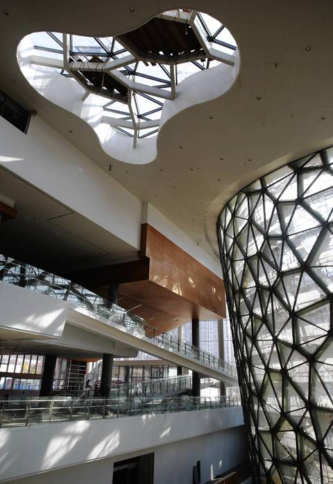 the cell skylight and wall of the new shanghai natural history museum