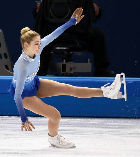 """Both American women skated well, although Gracie Gold had a fall."""