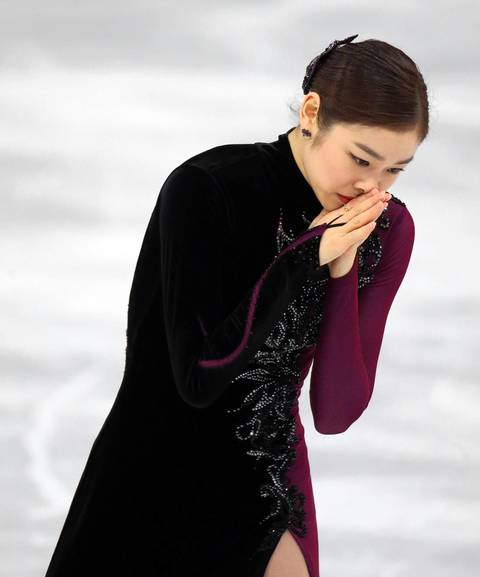 """It came down to the final skater, defending Olympic champion Yuna Kim of South Korea. To my amateur eye her program looked great, but Kim's reaction immediately afterward said that she wasn't sure it was enough."""
