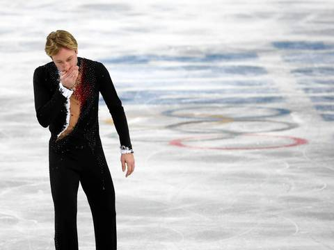 """Evgeny Pluschenko's withdrawal right before competing was a surprise and a touching moment. After notifying the judges, the Russian and former gold medalist skated to center ice to acknowledge the crowd. As he skated off you could tell he was sensing the finality the moment as he announced his retirement later in the evening."""