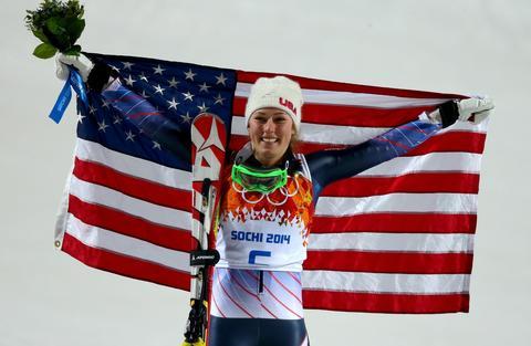 Mikaela Shiffrin: gold medal, women's slalom.