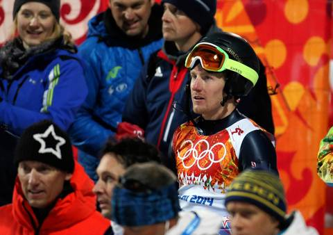 """I was there mainly to see if USA's Ted Ligety could win a second medal after the giant slalom. He was in good position after his first run, but missed a gate on his second and failed to finish."""