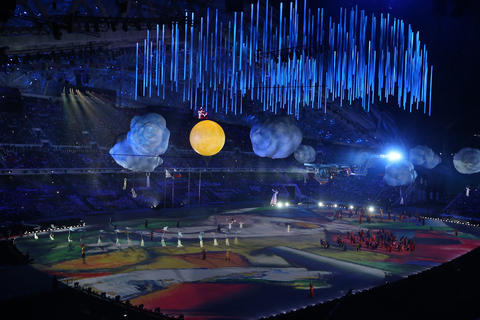 Russia's artistic heritage is celebrated during the 2014 Sochi Winter Olympics Closing Ceremony.