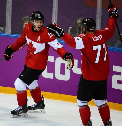 """The gold medal men's hockey game started out well for Team Canada and half of our Blackhawks as Jonathan Toews scored in the first period. With three Hawks on Canada and three on Sweden, I knew I'd have a story about winners and losers either way, so it was nice to have our captain involved in the action right off the bat."""