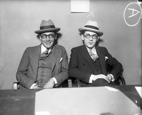 "Chicago's debonair beer barons Frankie Lake, left, and Terry Druggan, right, were millionaire beer makers and distributors during prohibition, circa 1925. Lake and Druggan, who led the Valley Gang, owned several breweries by the early 1920s using their wealth to gain political influence and police protection to avoid jail sentences for beer-running and finally tax evasion. The Chicago Daily Tribune described the duo in 1924 as ""inseparable and dapper as ever."" Both Lake and Druggan were on the Chicago Crime Commissions Public Enemies list in the 1930s, despite their insistence that they were legitimate businessmen who only sold ""Near-O"" or near beer (alcohol free beer)."