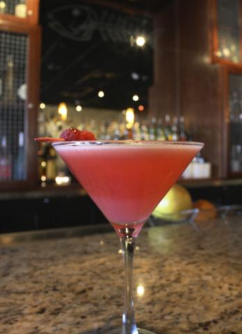 Price: $7.90  Ingredients: Fresh raspberries, Pure cane simple syrup, Reyka Vodka, Fresh squeezed lemon juice  Unlike any typical raspberry martini, this one is frothy and sherbert-like but still refreshing. See how the drink is made with fresh muddled berries.