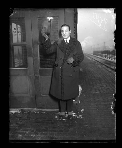 Rudolph Valentino in Chicago, 1926.