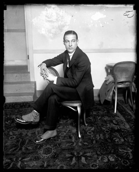 Rudolph Valentino in Chicago, undated.