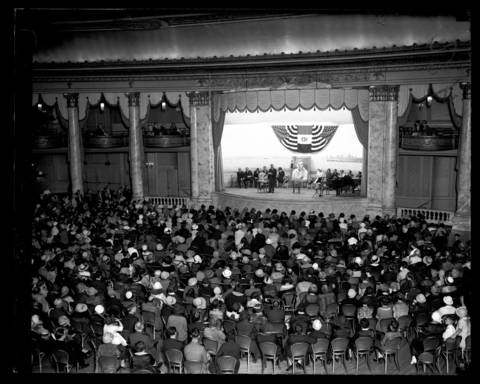 Rudolph Valentino memorial at the Trianon Ballroom, September 1, 1926. Valentino died in New York on August 26, 1926.