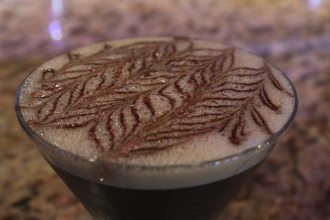 Price: $12  Ingredients: Stoli vanilla vodka, Tia Maria, freshly brewed espresso  Each espresso martini ordered will be served to you with an intricate design