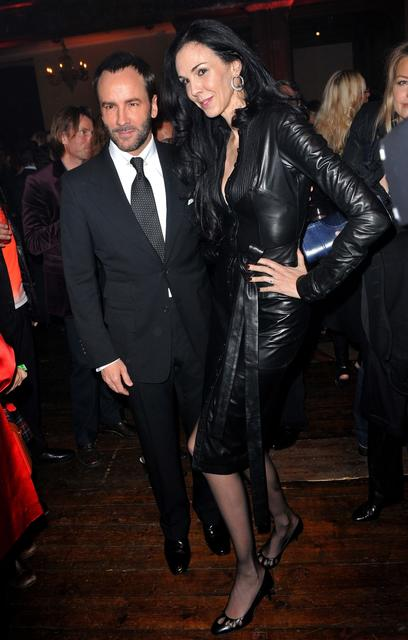 Designer Tom Ford and L'Wren Scott attend a Celebration of 10 Years of IHT Luxury Conferences during the International Herald Tribune Heritage Luxury Conference in 2010.