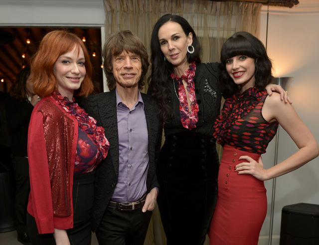 Most recently, Scott worked on a collaboration with clothing company Banana Republic. The designer is shown here at the launch party at the Chateau Marmont in November. From left are actress Christina Hendricks, singer Mick Jagger, Scott, and actress Jessica Pare.