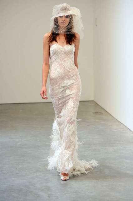 This bridal gown was part of the Spring/Summer 2009 collection of designer L'Wren Scott, presented at New York Fashion Week on Sept. 12, 2008.