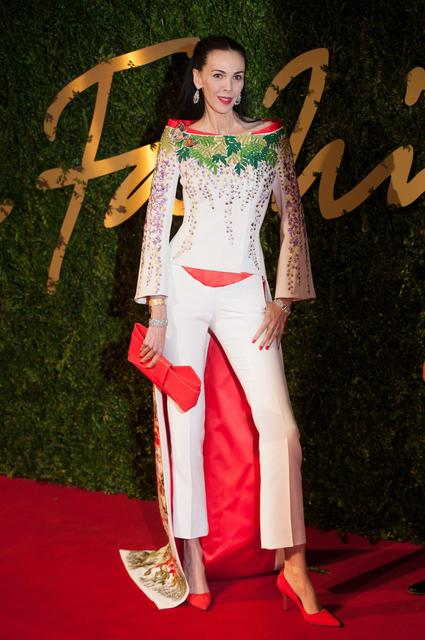 L'Wren Scott, 49, seen here arriving at the annual British Fashion Awards, was both a model and stylist before becoming a designer.