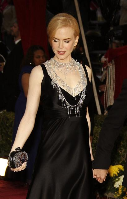 One of L'Wren Scott's most memorable red-carpet moments was at the 2008 Oscars, for which she dressed Nicole Kidman in a black Balenciaga gown and designed a dramatic 1,399-karat rough diamond sautoir to go with it.
