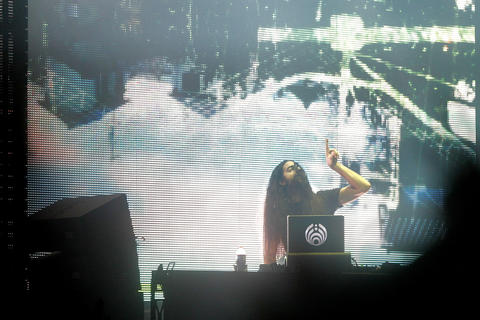 Bassnectar performs at the Hampton Coliseum Friday evening. Bassnectar headlined the sold out show with Pretty Lights.