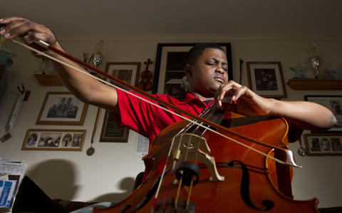 Sterling Elliott, a 14-year-old cellist from Newport News, won the Junior Division of the 17th Annual Sphinx Competition in Februrary. The win comes with a $10,000 scholarship and national performance opportunities.