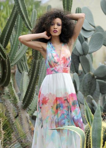 Nicole Miller gown, Panache, $595