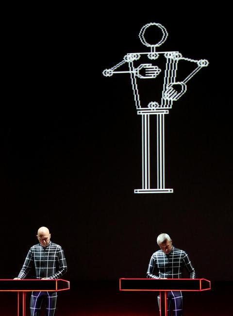 Kraftwerk performs at the Riviera Theatre in Chicago.
