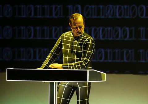 Ralf Hutter and Kraftwerk perform at the Riviera Theatre in Chicago.