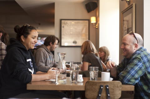 Diners enjoy brunch at Commonwealth Tavern