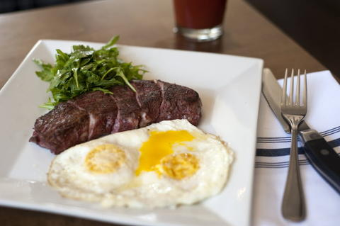 Steak and Eggs, a brunch option on the new brunch menu at Commonwealth Tavern