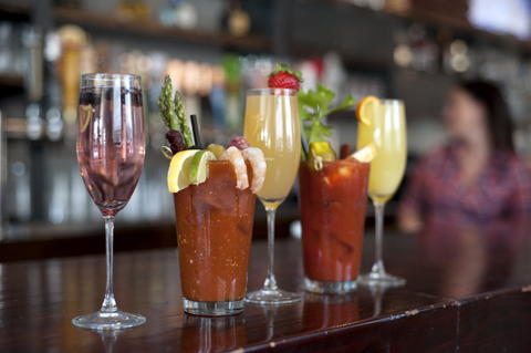 Diners may build their own Bloody Mary or Mimosa with a variety of available ingredients during brunch at Commonwealth Tavern