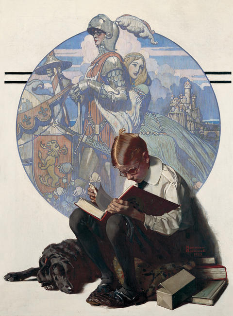 "Norman Rockwell, creator of ""Boy Reading Adventure Story,"" would be present at the museum."
