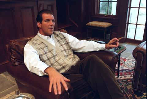 Steve Bisciotti is pictured at his home in Millersville after becoming a minority owner of the Ravens.
