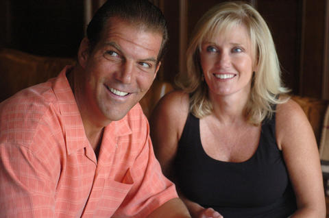 Steve Bisciotti with his wife Renee.