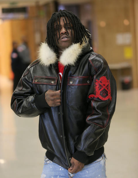Rapper Chief Keef, whose real name is Keith Cozart, arrives at the Lake County Courthouse in Waukegan for an appearance regarding a DUI arrest on March 5th in Highland Park.