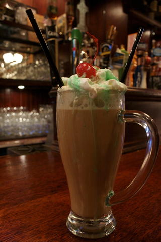 Price: $8  Ingredients: Onyx Moonshine, coffee, house-made Irish cream, whipped cream, creme de menthe  A Vaughn's staple, sip on this before you head to Winterfest for a quick caffeine boost. Forget Baileys, this Irish coffee is made with house Irish cream.