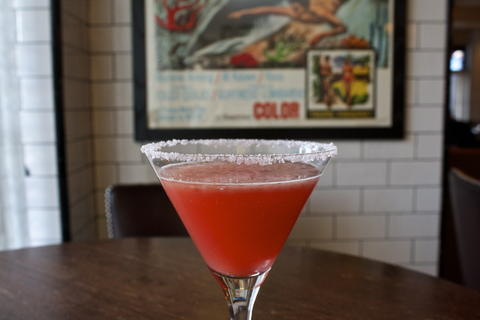 Price: $9  Ingredients: 1 ounce of Citadelle Gin, 1 ounce of St. Germain, 1 ounce of Blood Orange Juice, 1 ounce Cava or dry sparkling wine, Blood Orange Sugar Rim. Rim a cocktail glass with blood orange sugar and set aside. Combine gin, St Germain, and blood orange juice and Shake with ice. Strain into glass and top with Cava.  Blood orange is a favorite fruity winter flavor of Max Fish, this is a light, fresh option if you're not into barrel-aged whiskeys.