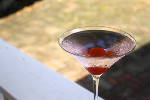 Price: $9 Ingredients: Ruby Red Vodka topped with a cherry to give it that pink color.