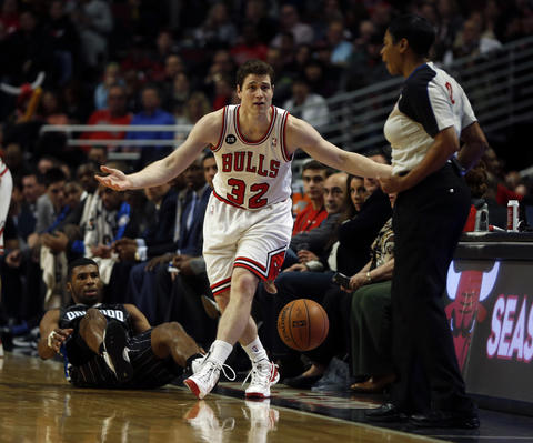 Jimmer Fredette looks for a call from official Violet Palmer after being fouled by the Magic's Ronnie Price in the 4th quarter.