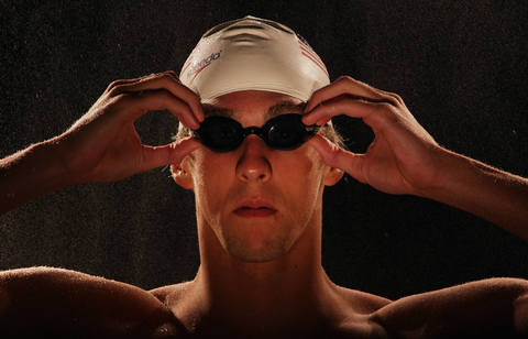 Michael Phelps poses during the U.S. Olympic Media Summit.