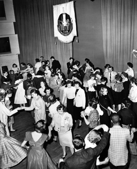 "Teenager's dance to rock 'n' roll in the main studio at WGN-TV during an hour-long radio show called the ""Hi-Fi Club"" on April 16, 1959."