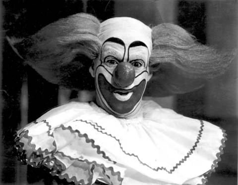 "Robert ""Bob"" Bell as Bozo the Clown in 1967."