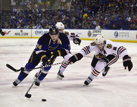 Duncan Keith, Game 2 vs. Blues.