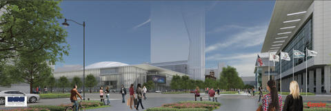 Proposed McCormick Place entertainment district in Motor Row south of the Loop.